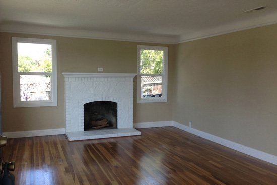 Before image of a home staged in the Live Oak area of Santa Cruz